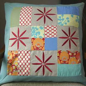 Patchwork and Quilted Pillows – thelongthread.com : quilted pillows - Adamdwight.com
