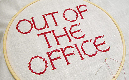 out of the office stitching