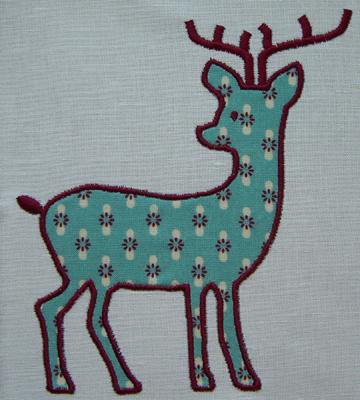 Deer Applique Embroidery Design
