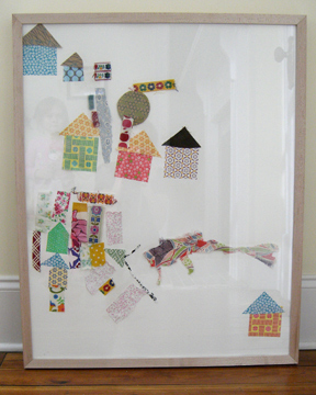 Fabric Scrap Collage by The Long Thread