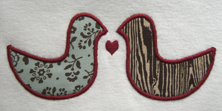 lovebirds-applique