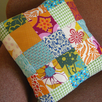 First sewing project - Cojines de patchwork ...