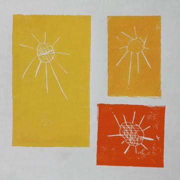 sunshine-lino-print