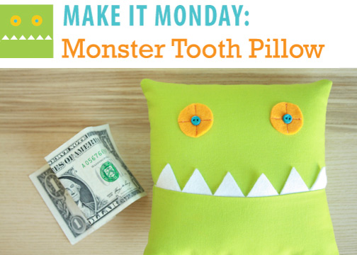 Monster Tooth Pillow