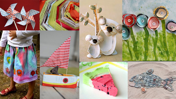 50 more summer crafts for kids for Summer craft ideas for adults