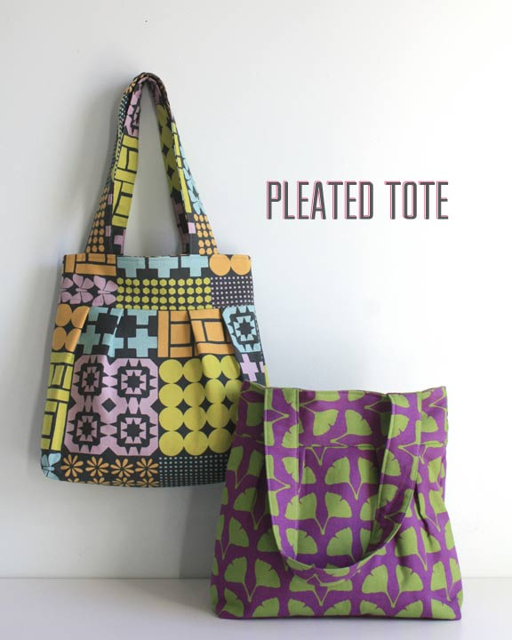 pleated tote bag by the long thread
