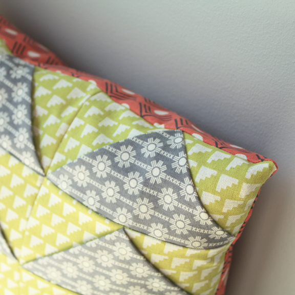 Detail of Triangles Pillow