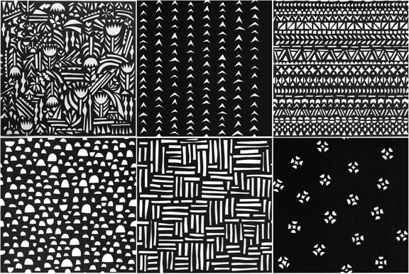 fabric-in-b+w