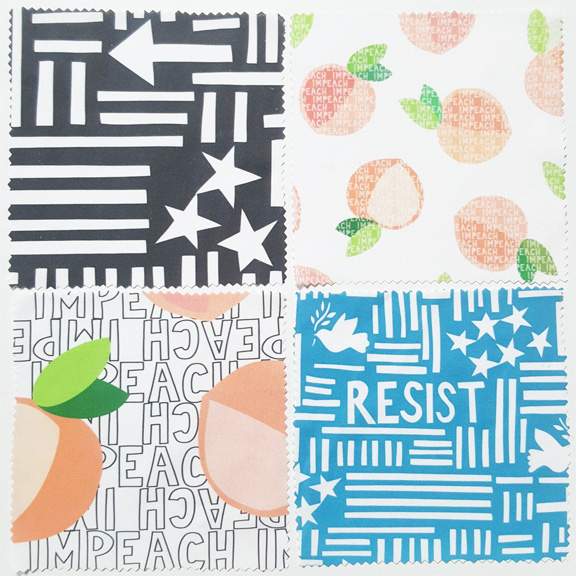 Protest Letter Fabric