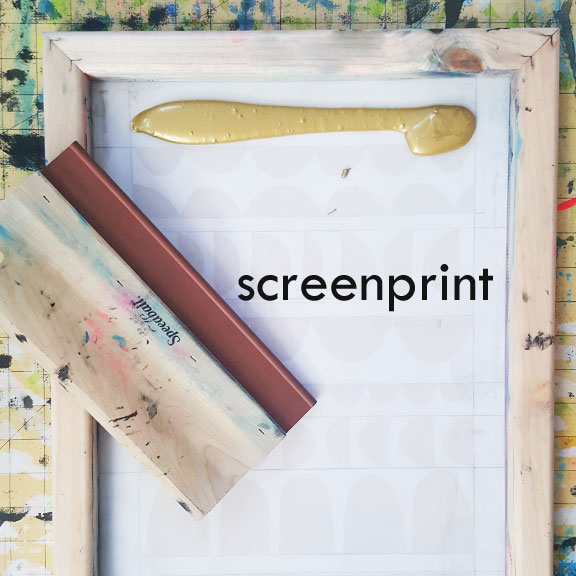 Freezer Paper Screenprinting – the long thread