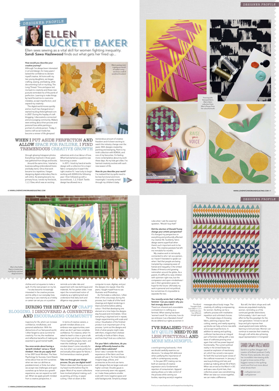 Love Patchwork & Quilting Magazine Feature