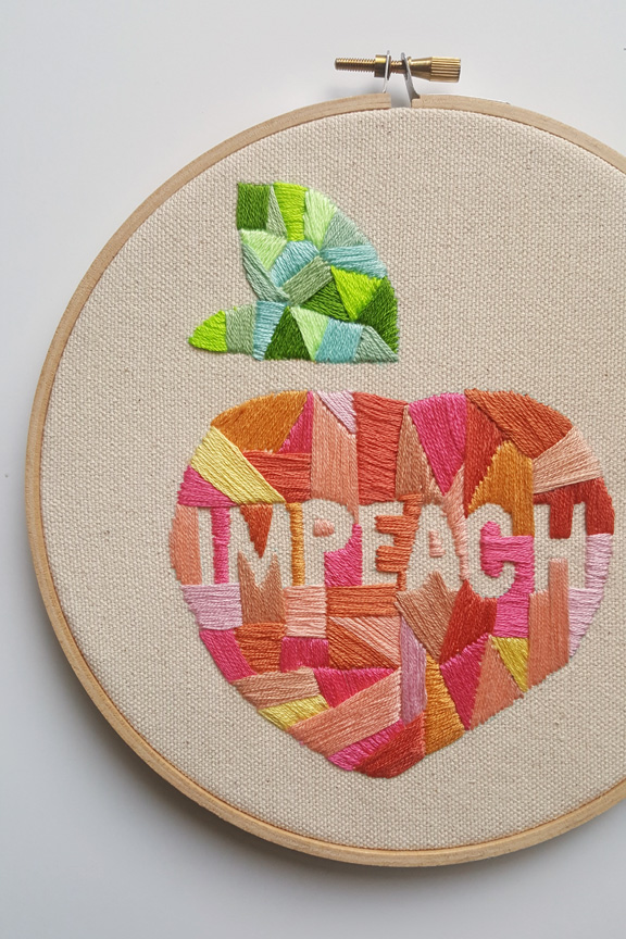 Impeach Embroidery Pattern